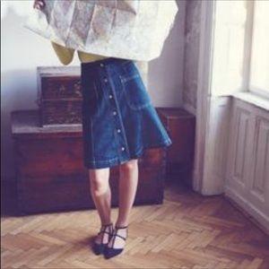 """Boden a-line denim midi  """"Isabelle"""" skirt"""
